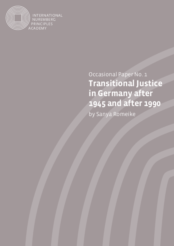 Transitional Justice in Germany en